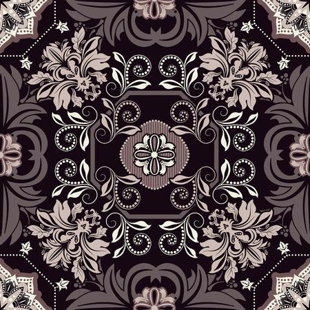 dutch tiles: Geometrical tile pattern. Ornamental seamless background