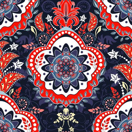 Floral ethnic background, ornamental wallpaper