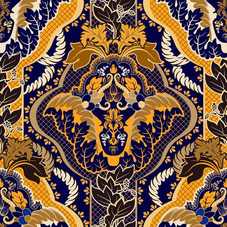 Vintage indian seamless pattern 일러스트
