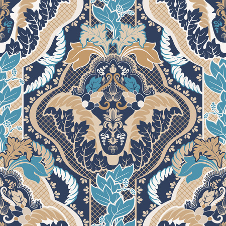 Vintage indian seamless pattern Vectores