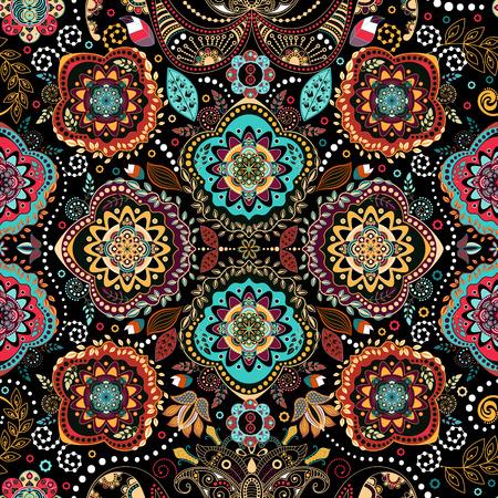 Floral seamless pattern. Ornamental vintage wallpaper