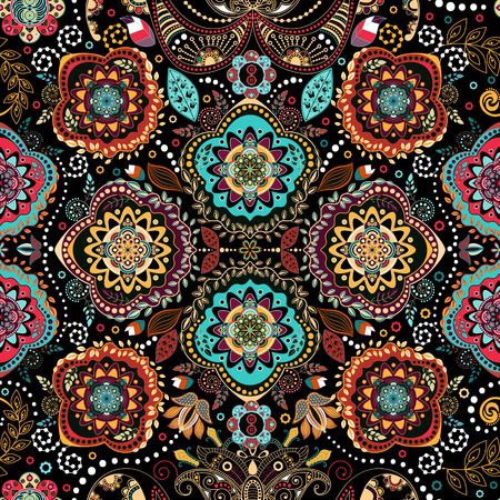 Floral seamless pattern. Ornamental vintage wallpaper