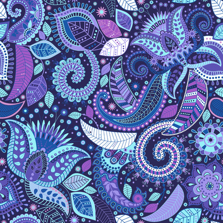 Floral seamless pattern. Colorful ornamental background, wallpaper 일러스트