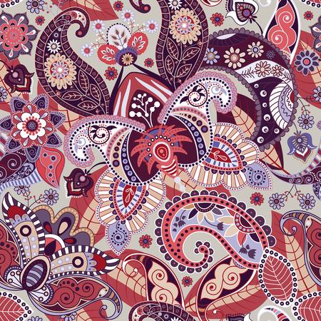 batik: Vecteur fleurs Seamless. Paisley seamless wallpaper Illustration