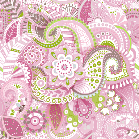 Floral seamless pattern with decorative flowers, wallpaper