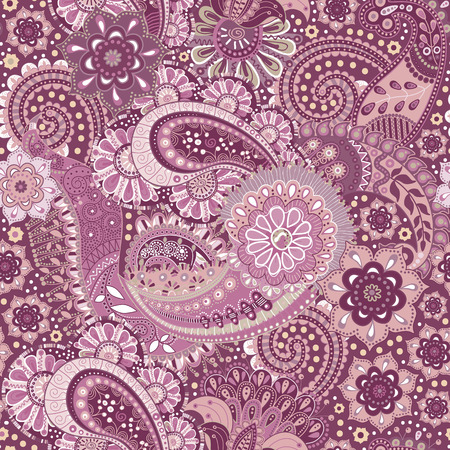textile background: Floral seamless pattern. Colorful Paisley background, textile