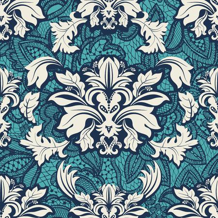 Seamless damask pattern. Vintage classic wallpaper, background 일러스트
