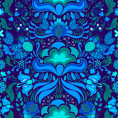 retro floral: Seamless pattern. Floral Paisley background, wallpaper, pattern