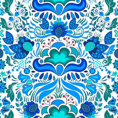 endlos: Nahtlose Muster. Floral Paisley Hintergrund, Tapete, Muster Illustration