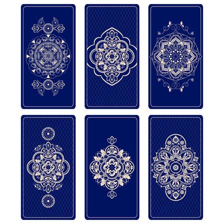 Vector illustration for Tarot cards. Design for Tarot Vettoriali