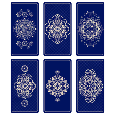 Vector illustration for Tarot cards. Design for Tarot Иллюстрация