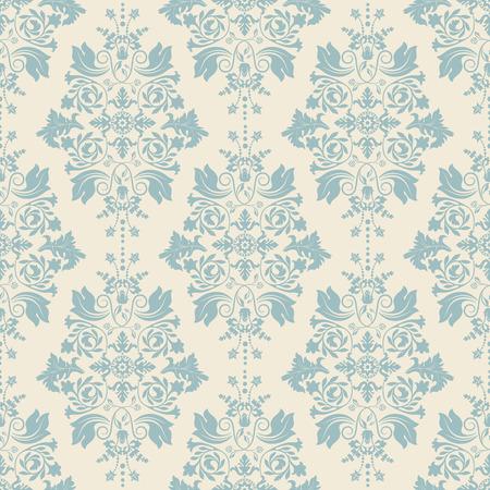 Seamless damask pattern, classic wallpaper, classic background  イラスト・ベクター素材