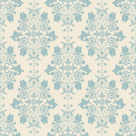 Seamless Damask Pattern Classic Wallpaper Background Stock Vector
