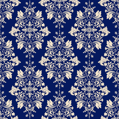 Seamless damask pattern, classic wallpaper, classic background Vectores