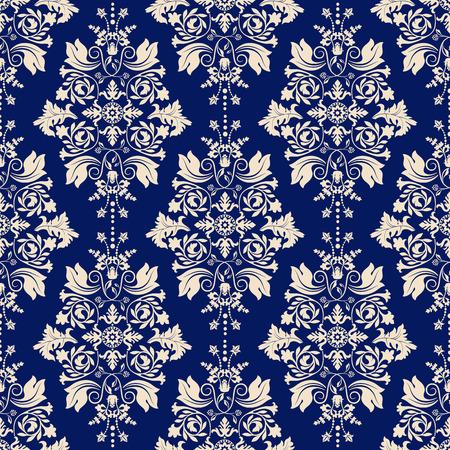 vintage: Seamless damask pattern, papier peint classique, fond classique Illustration