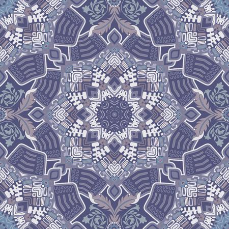 Ethnic seamless pattern. Colorful ornamental background, wallpaper 일러스트