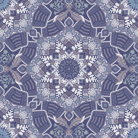 seamless floral pattern: Ethnic seamless pattern. Colorful ornamental background, wallpaper Illustration