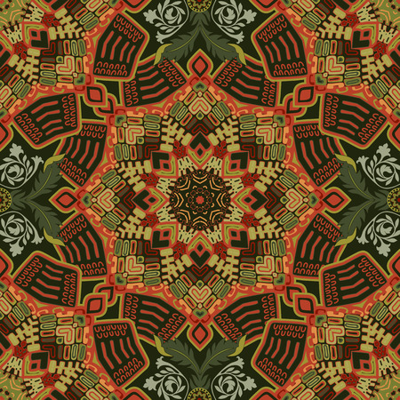 batik: Seamless ethnique. Fond ornemental color�, papier peint