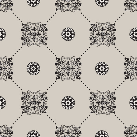 texture backgrounds: Vector damask seamless pattern background. Elegant luxury texture for wallpapers, backgrounds and page fill