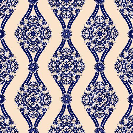 Vintage seamless pattern. fond d'écran décoratif, fond géométrique Vecteurs