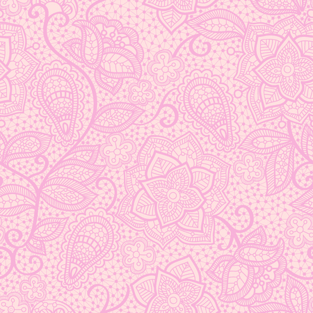 Vector lace seamless pattern, floral lace wallpaper