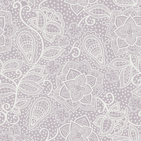 wallpaper floral: Vector lace seamless pattern, floral lace wallpaper