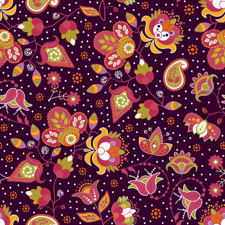 textile background: Colorful seamless pattern for textile, background, wallpaper
