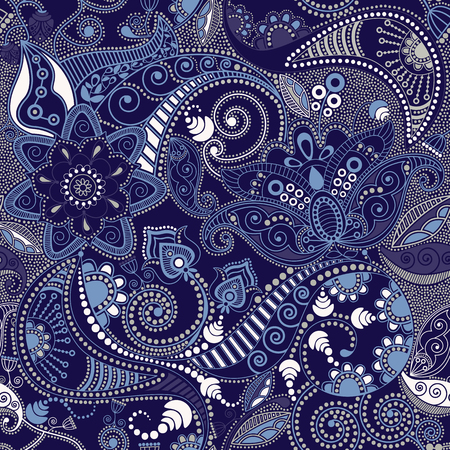 Paisley seamless pattern. floral wallpaper, background