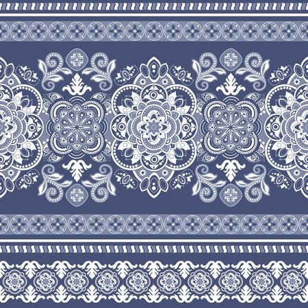 striped wallpaper: Striped seamless pattern. Colorful floral ornamental wallpaper