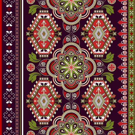line art: Modelo incons�til de rayas. Papel pintado colorido de flores ornamentales