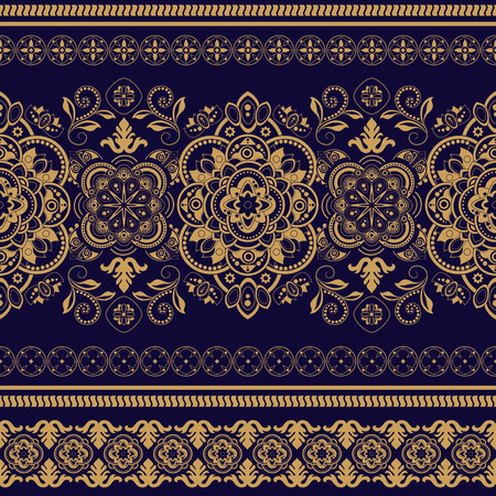 seamless rayé. Décoratif papier peint ornemental floral