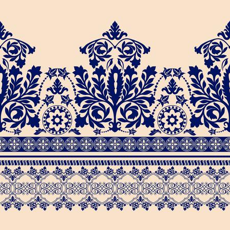 꽃 테두리 장식입니다. 디자인에 대 한 원활한 패턴 다