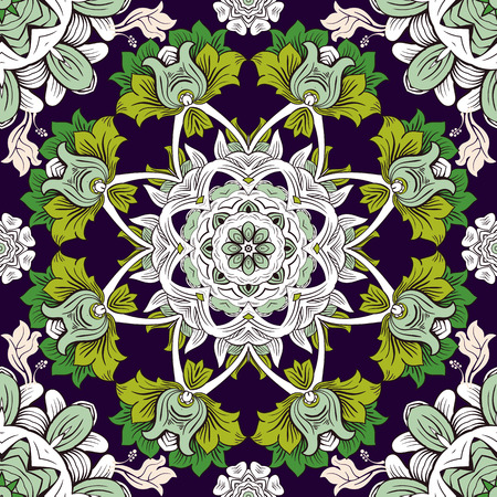 flower decoration: Colorful flowers seamless pattern. Colorful background, wallpaper