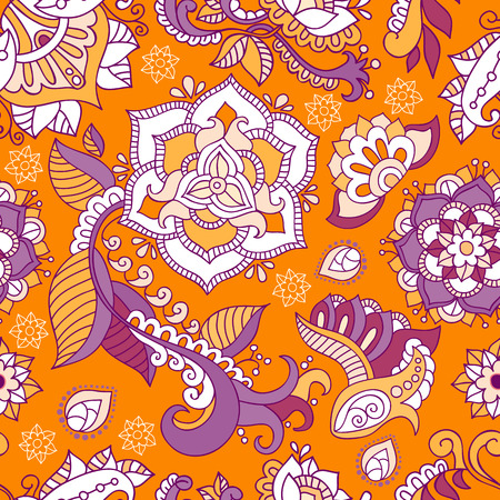 repetition: Floral seamless pattern. Floral wallpaper. Colorful flowers background Illustration