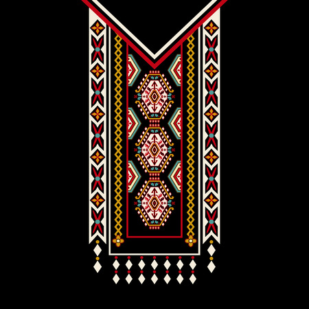 conception pour chemises à col, chemises, chemisiers. conception ethnique ornemental Colorful
