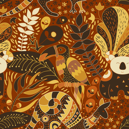 Seamless wallpaper. tropical background. Floral pattern