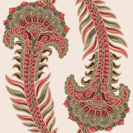 Indian Kulisse. Bunte helle ethnische Tapete, Muster