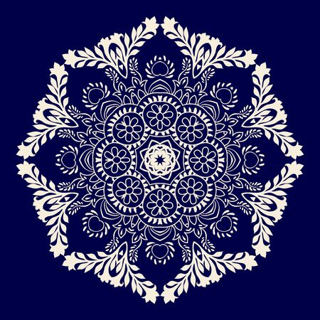 rosette: Vector rosette ornament. Colorful mandala. Vector snowflake