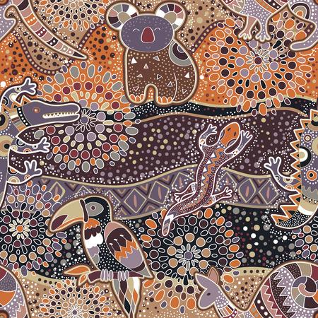 motif décoratif coloré. L'origine ethnique. le style australien
