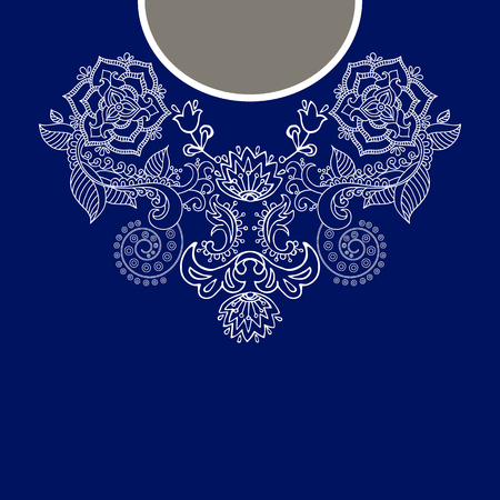blouses: Vector design for collar shirts, shirts, blouses, T-shirt Illustration
