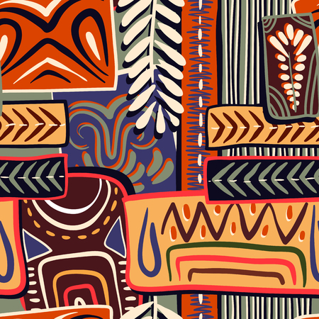 Colorful decorative pattern. Ethnic background. African style