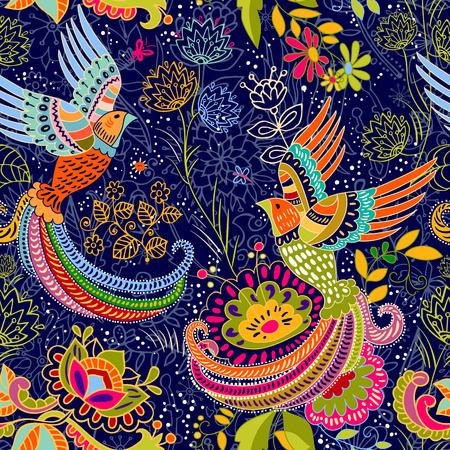 batik: seamless pattern. style de bande dessinée. toile de fond coloré
