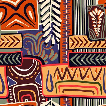 motif décoratif coloré. L'origine ethnique. style africain