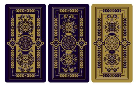 タロット カードのベクトル図です。装飾的な背景