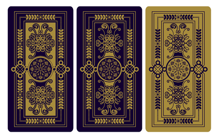 Vector illustration for Tarot cards. Decorative background