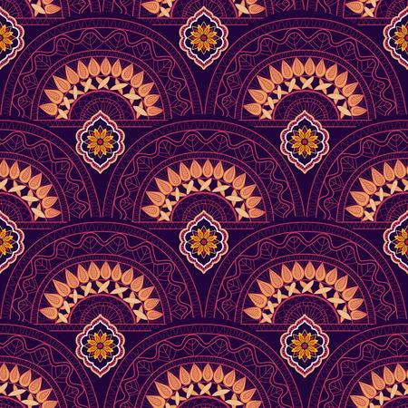 endlos: Abstrakt ethnischen Tapete. Bunte indische Verzierung. Geometrische Hintergrund