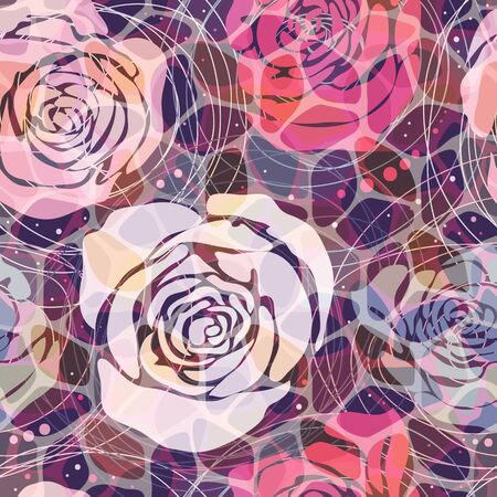 abstract pattern: Abstract floral pattern. Colorful mosaic