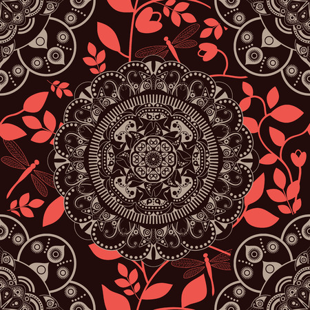 east: Seamless floral pattern. Colorful ornamental