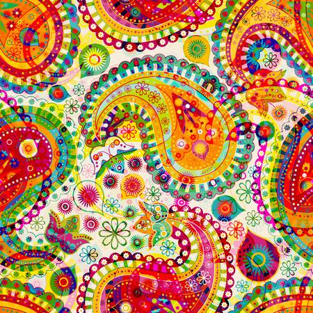 Bunte dekorative Muster. Ethnische Tapete Vektorgrafik