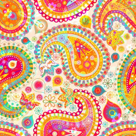 Colorful decorative pattern. Ethnic wallpaper Illustration